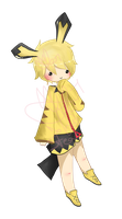 Auction 2: Pichu Gijinka CLOSED by chuguri
