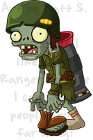 PvZ - Foot Soldier by FluffyMystic
