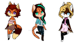 [Pnts or PP] Fall Anthro/Sonic Adopts: OPEN (2/3) by Sue--Boo
