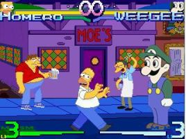 Homer vs Weegee by wecato