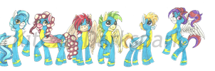 Concept: The New Wonderbolts by KHwhitelion
