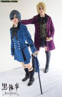 Alois Trancy + Ciel Phantomhive Cosplay by PrinceEsther