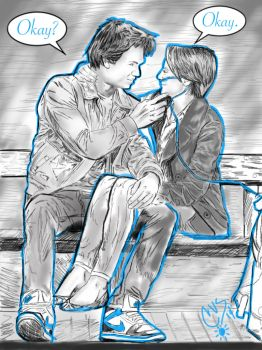 The Fault in Our Stars: Augustus and Hazel Grace by GodzNinja