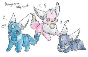 Drageevee adopts -CLOSED- by LittleWhiteWolfAngel