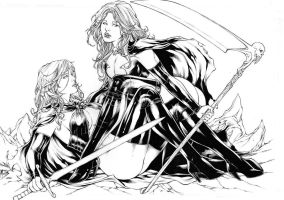 Goblin Queen and Lady Death by Leomatos2014