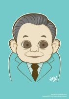 Lee Kun-hee caricature by Tae-yun