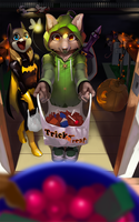 Trick or treat by Shnider