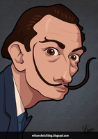 Salvador Dali (Cartoon Caricature) by wilson-santos