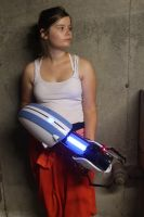 Chell Portal Cosplay by rur-123