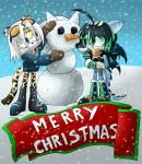 Merry Christmas from Snow and Azure! by Zephyros-Phoenix