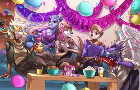 Watcher celebration at Abby's by furlana