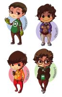 The Big Bang Theory Chibis by XMenouX