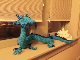 Blue dragon by TheMagicianAssistant