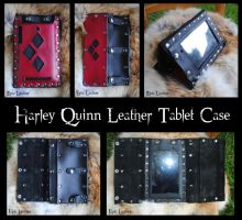 Harley Quinn Leather Tablet Case by Epic-Leather