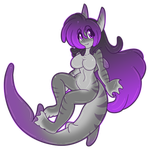 Shark Slime Girl Ally Chibi by AkuOreo