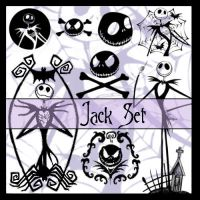 Brushes - Jack Skellington Set by PinkBassist3