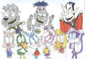 A Tiny Toons Monster Mash by SithVampireMaster27