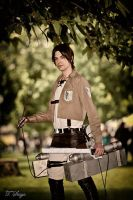 Let's fight! Eren Jaeger cosplay by IKaggi14