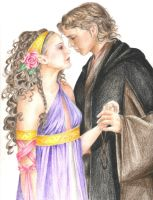Anakin and Padme by rinabina123