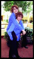 Akon 18- Ouran Twins Piggyback by jac