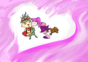 Annie and Teemo by ILIKEHUGSS