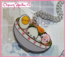 Ramen bowl necklace by CherryAbuku