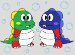 Bubble Bobble Twins by commandercharon2