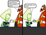 Dr. Eggman and Peridot- Teaming up by ToonEmpire24
