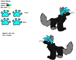 Ahbree Ref. sheet by Obsidianthewolf