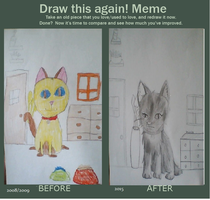 Before And After Meme: Cats by Borsaline-Tresbien