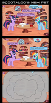 Comic - Scootaloo's New Pet by DaringDashie