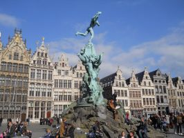 Statue of Brabo the Giant,Antwerp,Belgium by MsDeGraeve