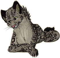 Snow Leopard by BlueGriffyon