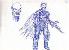 batman mixed with punisher by morshu9000