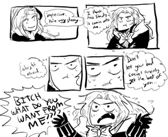 alucard's bad social anxiety act 1 scene 1 by FlabbergastedFelon