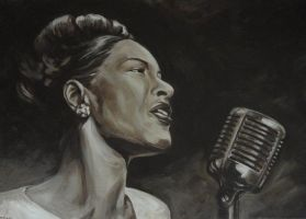 Billie Holiday by kenpaint