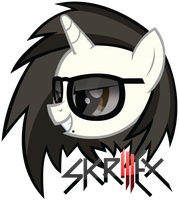 Skrillex Pony Head by TehAwesomeFace