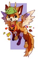 ArtTrade: Trick or treat! by Pand-ASS
