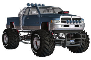Dodge Big Truck PNG Stock by Roys-Art
