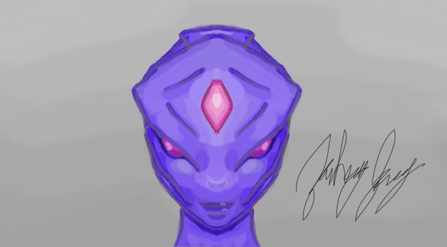 Female Alien Concept 1 by TheArkhamSage