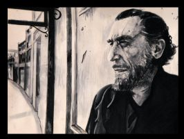 the great Bukowski by jflipmarcotte