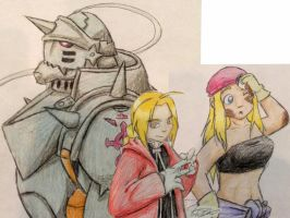 Con commish: FMA-team by Tatta-doodles