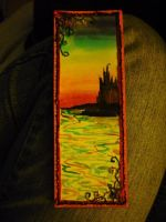 Sunset Castle bookmark by Starleaf-Creations