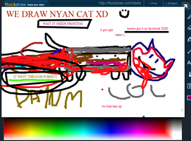 Nyan cat went thru puberty by Externity