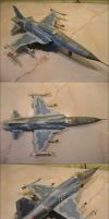 Precise card model: F-5 E by xaotherion