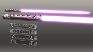 Guardian Lightsaber by broodofevil