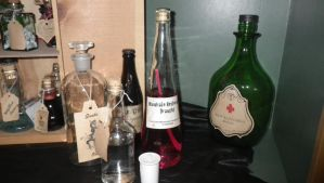 The finished bottles off to the side by Bwabbit