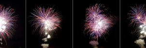 4th of July Fireworks Stock 33 by AreteStock