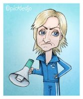 Sue Sylvester Caricature Glee by pickledjo