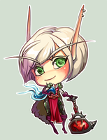 WoW: chibi blood elf by AppleSin